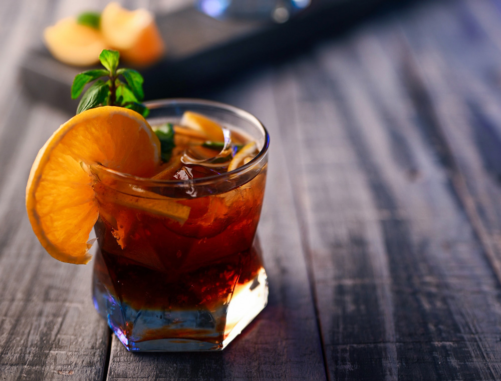 orange beverage