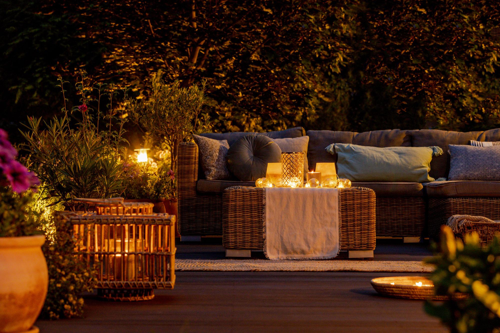 night patio