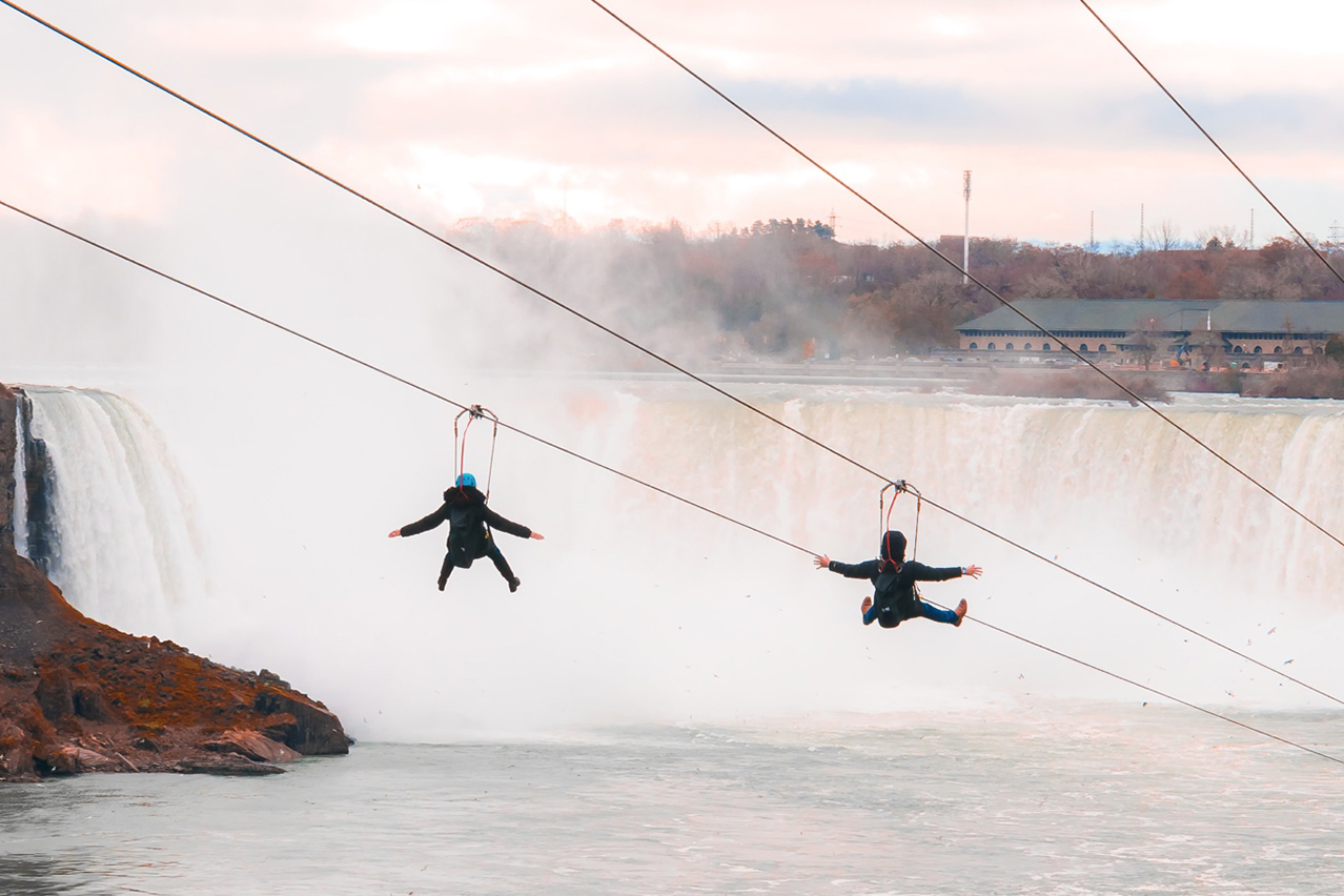 zipline to the falls